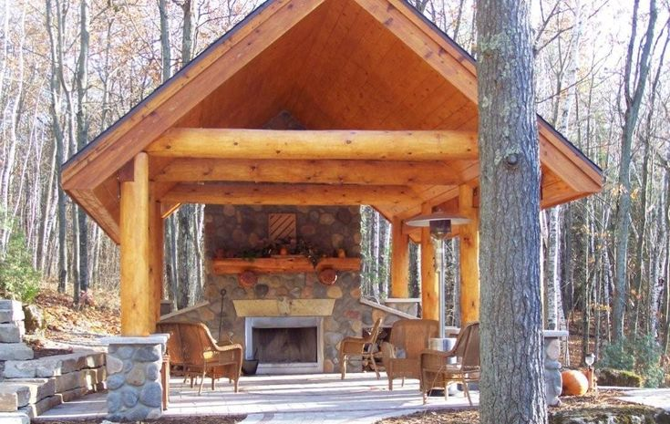 Open Pavilion Kits Live In Style Outside The Log