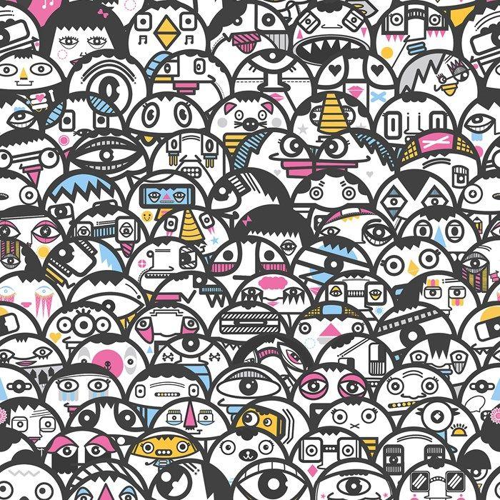 Alien Crowd Multi-coloured