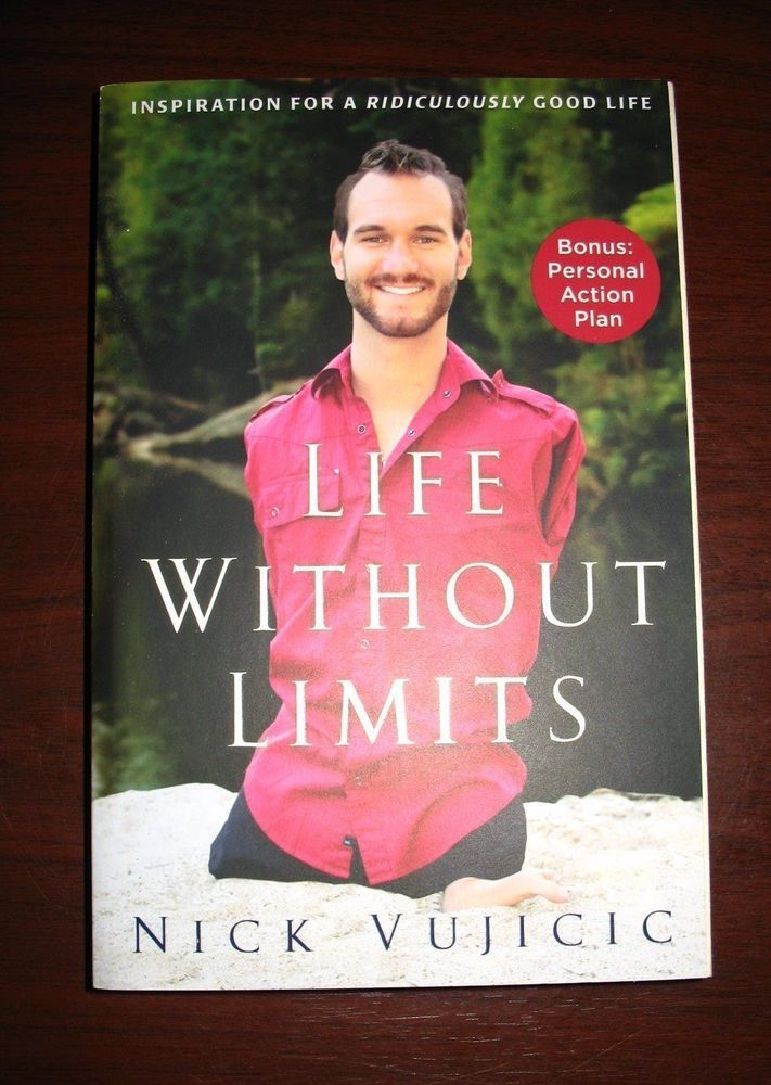AVAILABLE NOW!  Nick Vujicic -Life Without Limits (LIKE NEW, Paperback)
