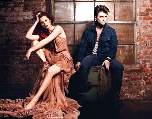 Mr. and Mrs. Potter. Ugh, I DON'T ship them, but this is a gorgeous picture. . .