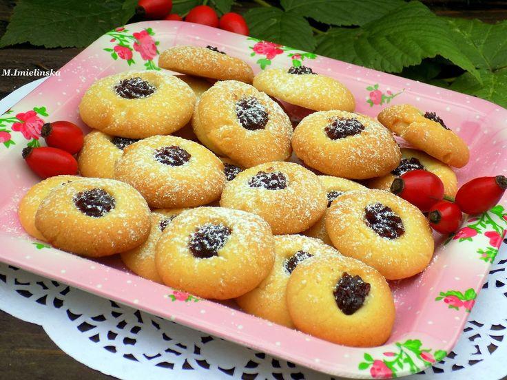 Domowa Cukierenka - Domowa Kuchnia: ciasteczka z różanym oczkiem (bez jajek)