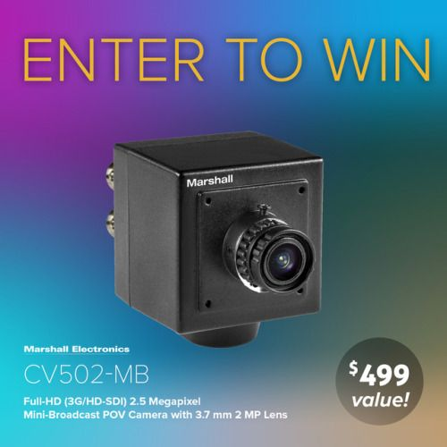 Marshall Electronics CV502-MB Mini-Broadcast POV Camera giveaway... sweepstakes IFTTT reddit giveaways freebies contests