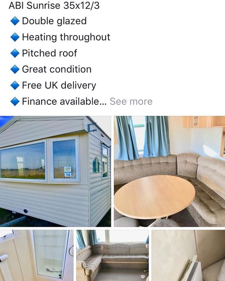 3 bed double glazed heated caravan #Selfbuild #farm #fishing #equestrian #caravan #holiday 8995