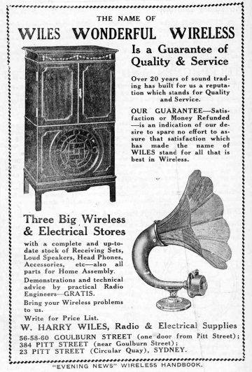 1924 wireless set advert