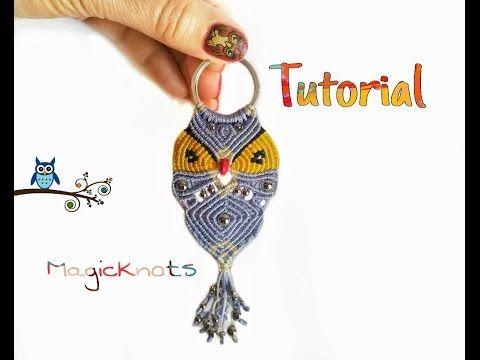 Micro Macrame Owl Key Chain 4 ♥ DIY ♥
