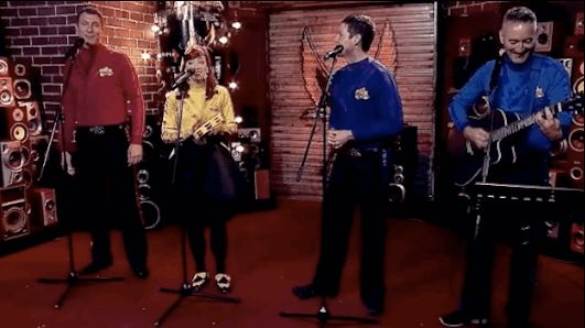 The Wiggles performed on Triple M this morning, but it wasn't their usual hot potato.