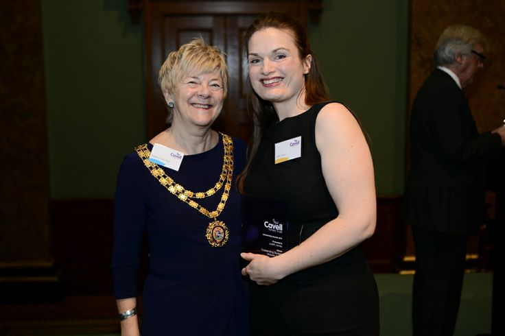 Prof. Lesley Page and Jude Jones, our winner in the Outstanding Student Midwife Category