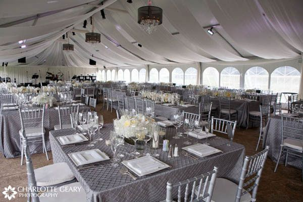 White And Silver Wedding Theme: Silver And White (until The Purple Uplights Shine