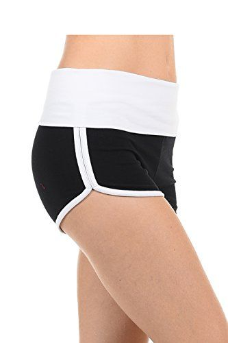 Athletic Curves Trimming Hot Yoga Shorts: Workout Exercise Running Walking Track Dance Jogging Tight BLK/WHITE S   Special Offer: $12.99      355 Reviews Size Run Small WAIST BAND WIDTH: 26″(S), 28″(M), 30″(L) FRONT RISE: 6.75″(S), 7″(M), 7.25″(L) INSEAM:...