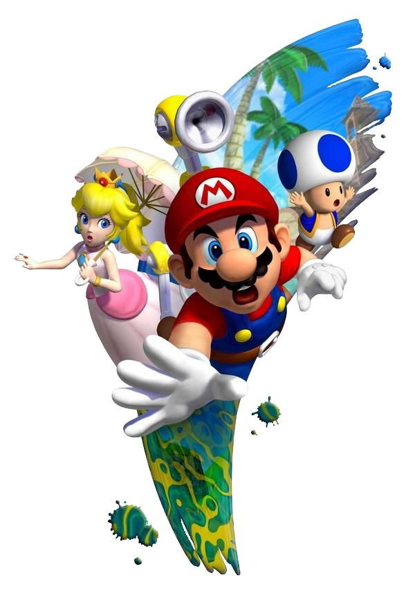 Super Mario Sunshine artwork. WAIT WAIT WAAAAIIITTT... PEACH HAS A RING!!!!! DOES THIS MEAN THAT.....