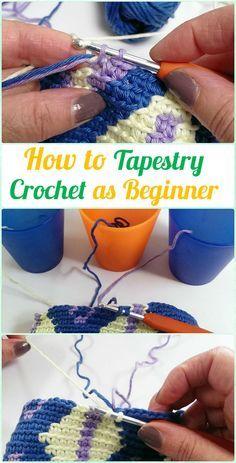 How to Tapestry Crochet as Beginner Free Pattern, Detangle Yarn, Yarn Tension Tips