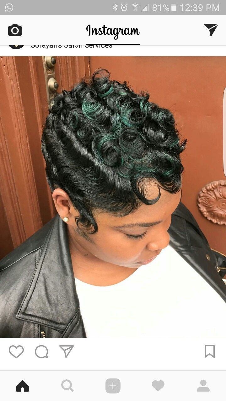 Image Result For Wavy Black Flapper Hair Short Hair Styles Short Hair Styles Pixie Hair Waves