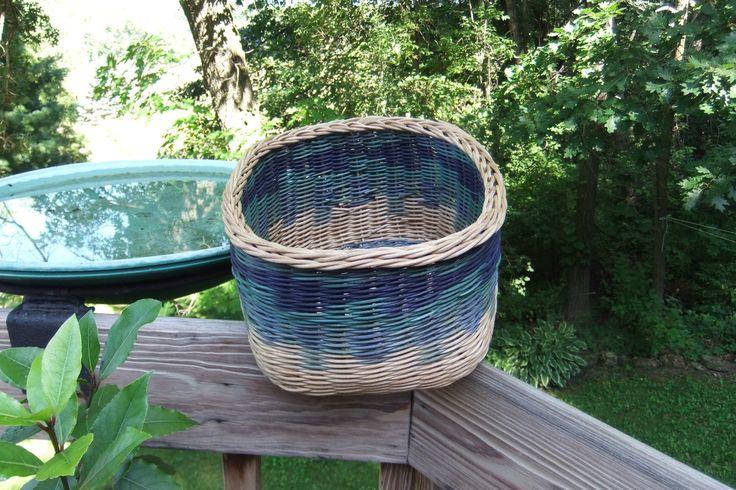 Square basket.  Round reed. Nancy's baskets