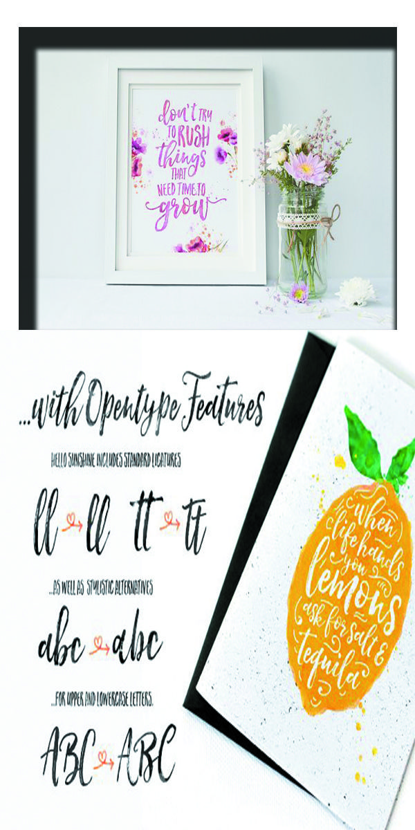 Hello Sunshine Font Duo Creative Resume Cricut Fonts Fonts