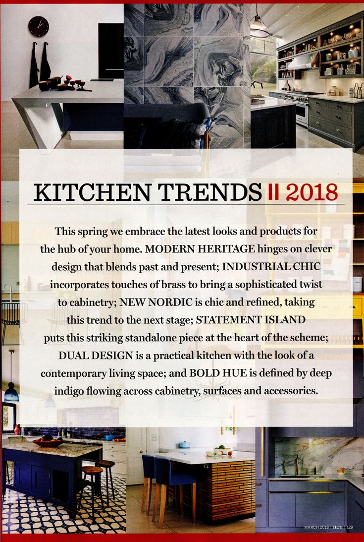 This beautiful kitchen is designed by Toni Silver from Martin Moore. www.martinmoore.com Homes & Gardens March 2018