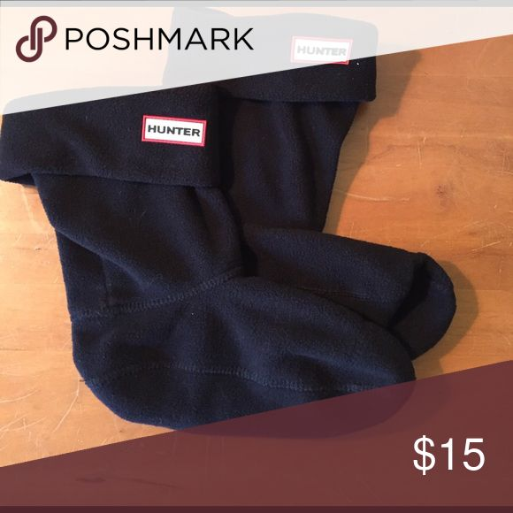 Hunter short boot liners, medium Black fleece boot liners for short Hunter rain boots Hunter Boots Accessories Hosiery & Socks