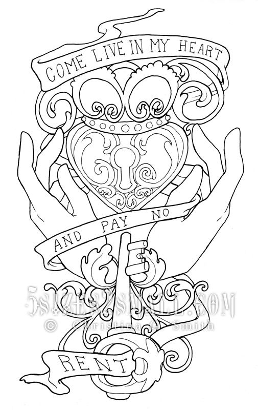 Pin by Lindsey Evans on Coloring Pages   Tattoo drawings ...