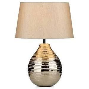 Dar Lighting GUS4032 Gustav Table Lamp Small Silver Complete with Silv