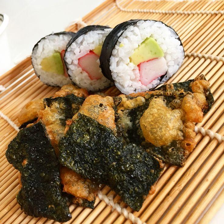 Surimi & Avocado Sushi wd Crispy Seaweed