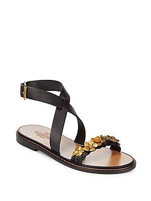 VALENTINO GARAVANI Floral Leather Sandals