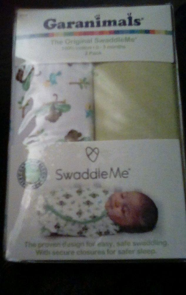 2 Pack Garanimals Original SwaddleMe Blanket Swaddler S  0-3 month monkey Infant #Garanimals