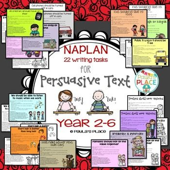persuasive writing tasks The game of persuasion  writing persuasive letters this lesson plan prompts students to write persuasive letters and lobby for issues they feel strongly about.
