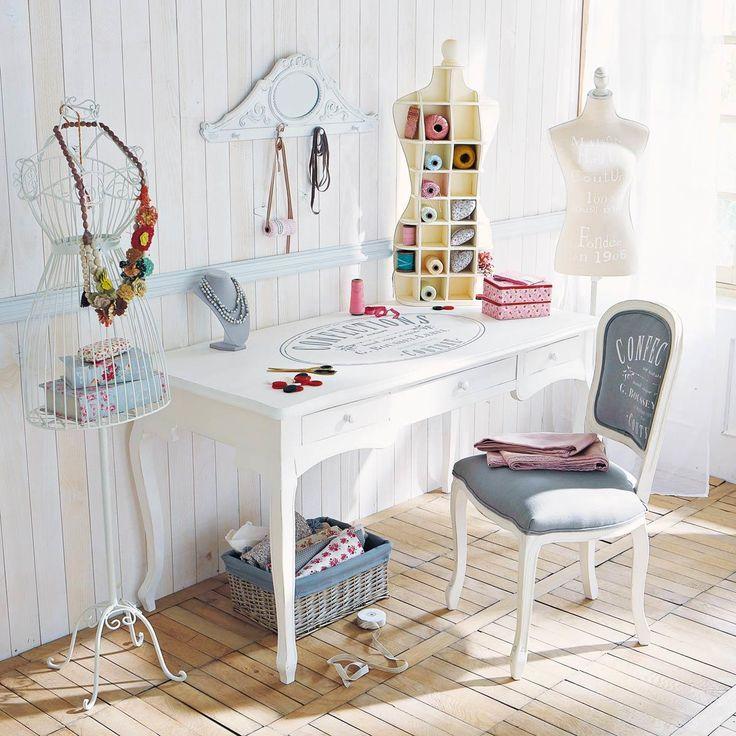 Scaffale in legno bianco Lady