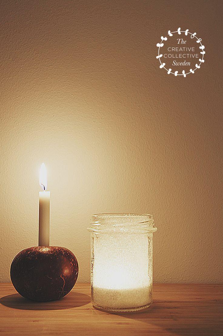 Sugar frosted jam jar Lanterns