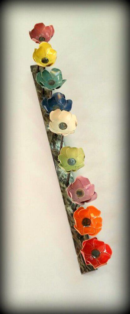 Colorful Hanukkah MenorahMulti Color Flower Family
