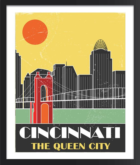 Cincinnati Skyline Poster - For the kitchen - YES PLEASE