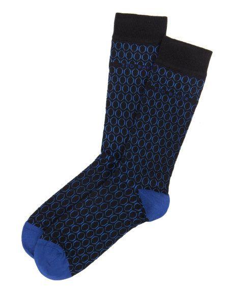 BEHARA | Geo circle sock - Blue | Socks | Ted Baker