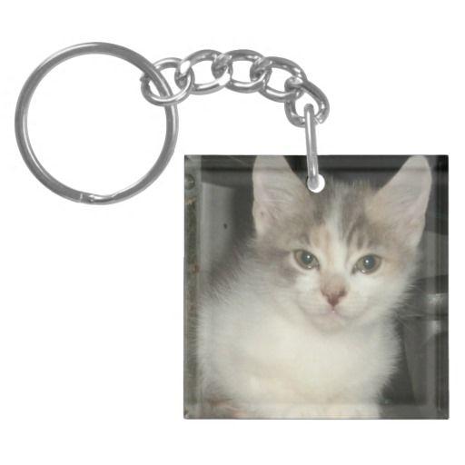 Kitty Cat Acrylic Key Chain! #kitten #keychains #key #chain #zazzle #cat #store #meow http://www.zazzle.com/conquestkitty*