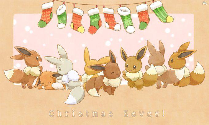 Christmas Eevee.Eevee Christmas Mary S Eevee S Pokemon Pokemon
