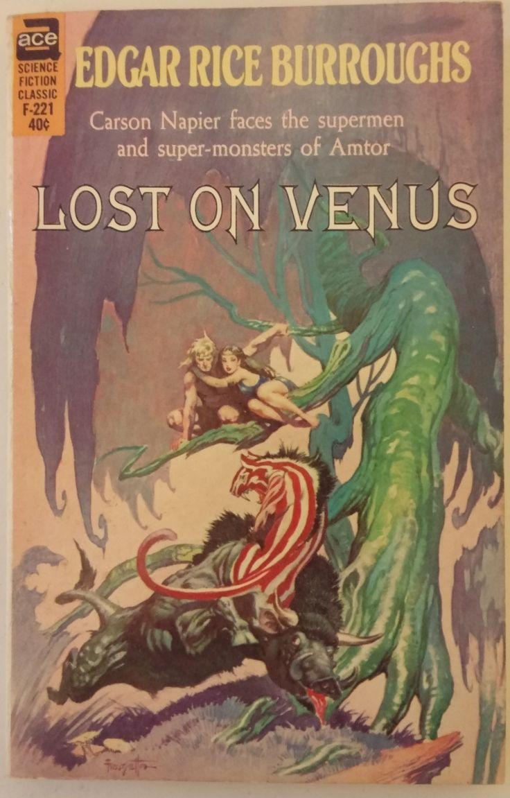 Science Fiction Book Cover Art : Lost on venus edgar rice burroughs classic science