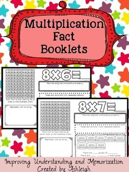Multiplication Fact Booklets - Improving Understanding and Memorization These multiplication fact booklets are sure to be a hit with your students and their parents! These booklets can be used to help students understand the concept of multiplication, as well as memorize their multiplication facts. They can be used as morning work, bell work, extra activities for early finishers, or even homework. $