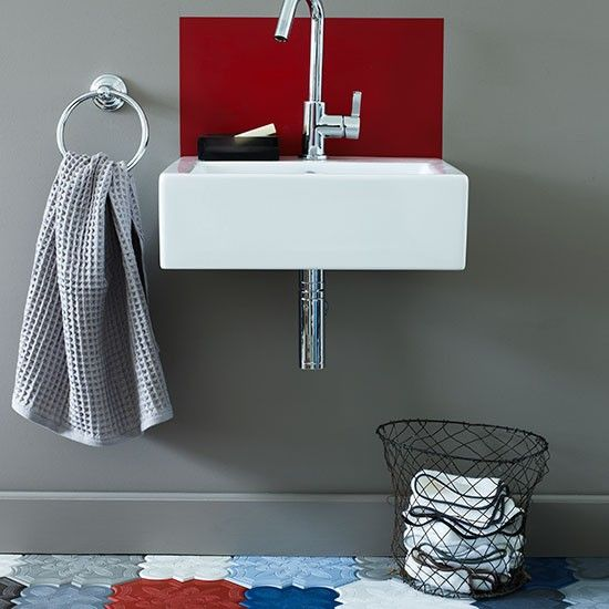 Bold patterned cloakroom | Modern decorating ideas | Homes & Gardens | Housetohome.co.uk