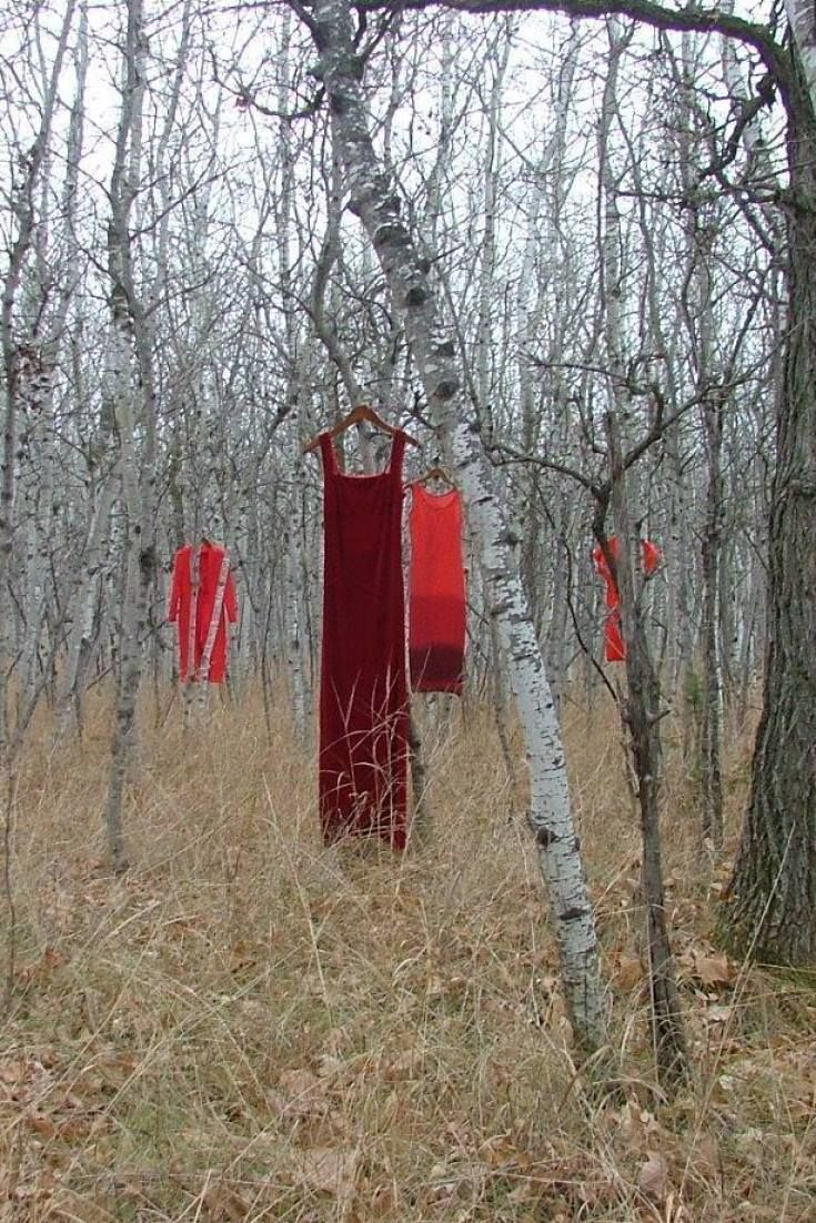 Installation of Red Dresses Draws Attention to Canada's Missing And Murdered Indigenous Women