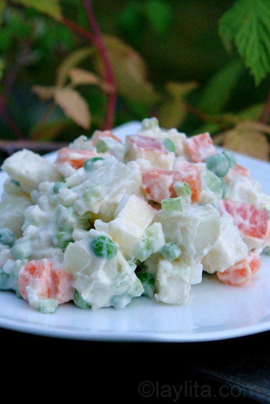 Receita de Salada de batatas russa