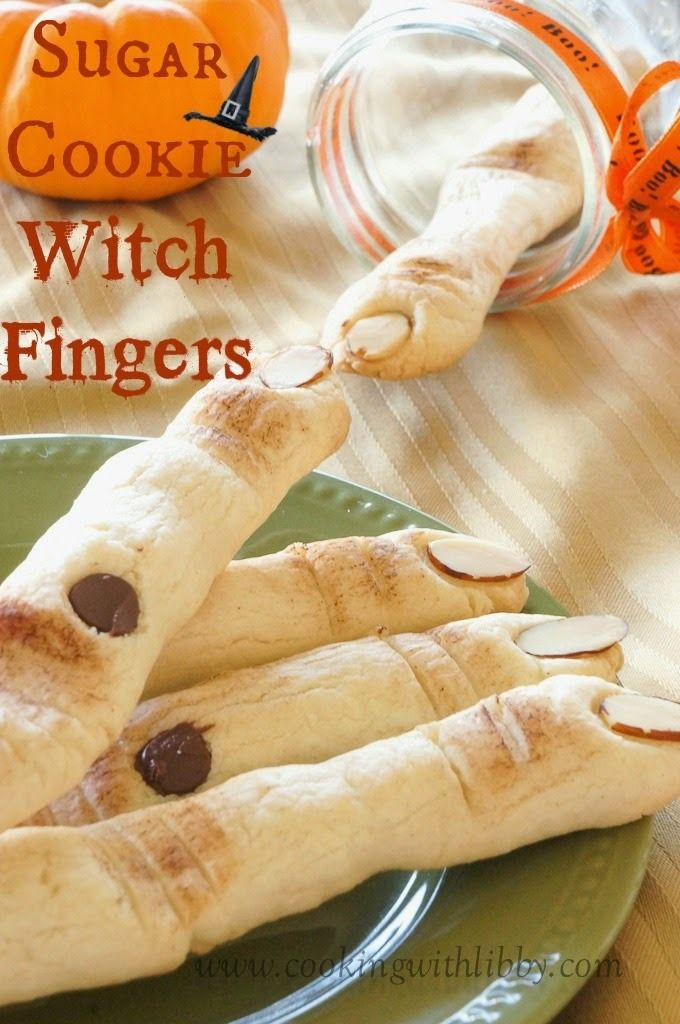 Sugar Cookie Witch Fingers {Halloween} | Cooking With Libby - These look like the REAL deal! Going to make them for my guests this Halloween! http://cookingwithlibby.com/2014/10/sugar-cookie-witch-fingers-halloween.html
