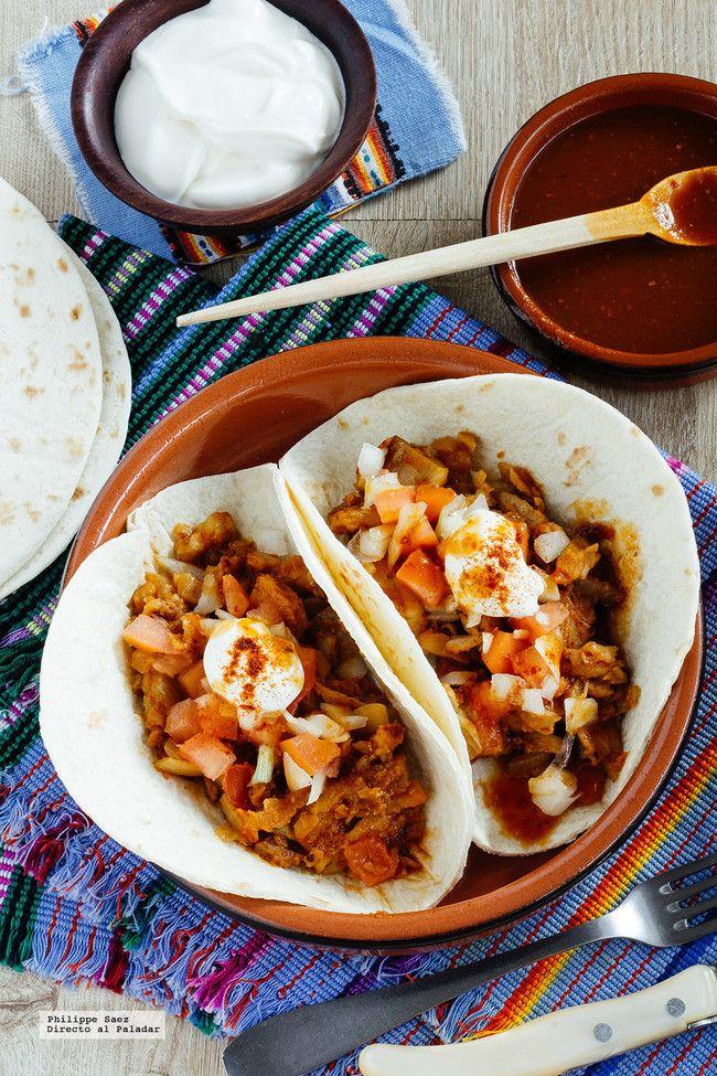 Tacos de pescado al chipotle. Receta mexicana fácil