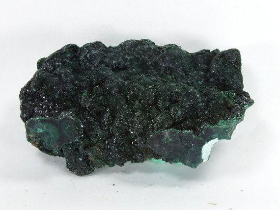 Malachite Crystals on Chrysocolla Kolwezi by EarthStonesAustralia