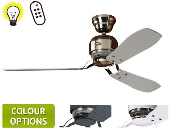 The Hunter Industrie II Ceiling Fan is an industrially-influenced urban designed fan. The Hunter Industrie ceiling fan is sleek with an impressive airflow.