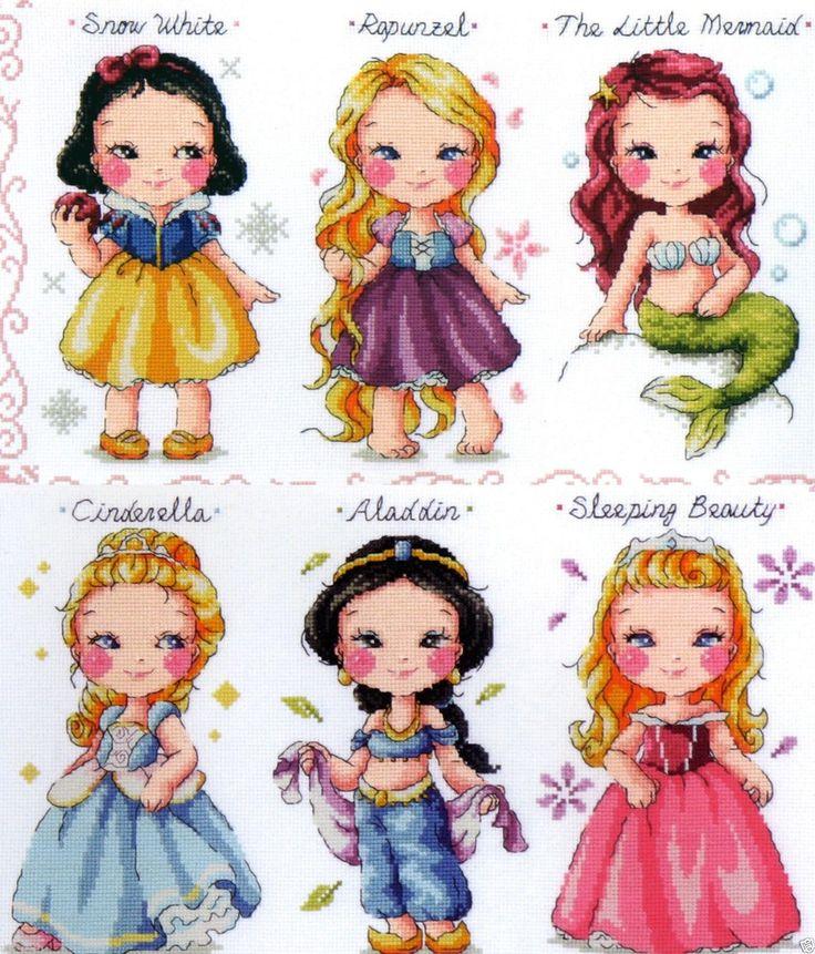 """Princess Collection"" Cross Stitch Pattern Book Big Chart Soda So K9 | eBay"