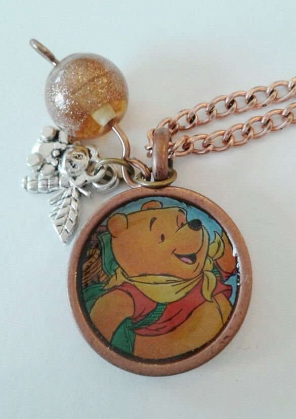 Winnie the Pooh Necklace by RogueUnicornCrafts on Etsy