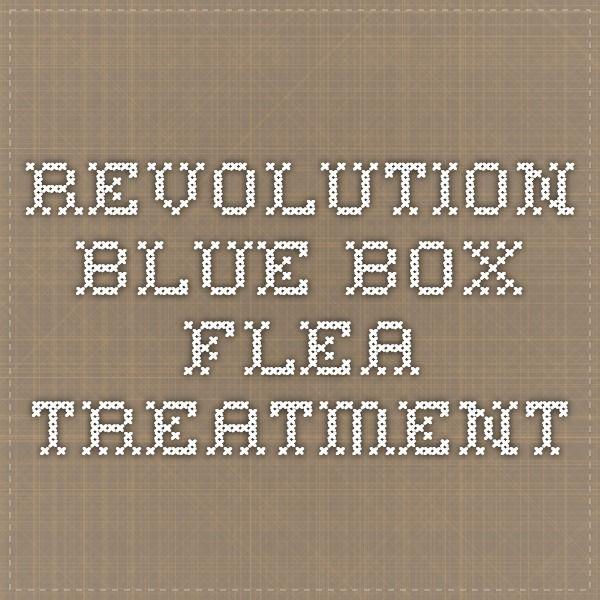 Revolution Blue Box flea treatment