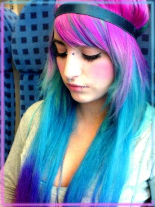 crazy hair colors | Hair Crazy: Fringe-Straight Cotton Candy photo Dani MonsterBunny's ...