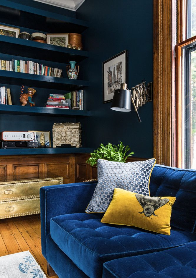 Blue On Blue - A Designer's Home That Takes Wallpaper To The Next Level - Photos
