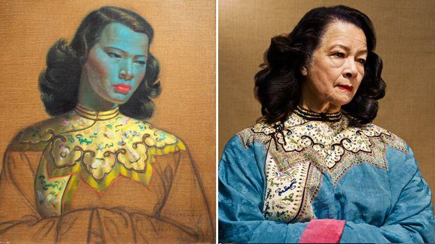 The painting Chinese girl and Monika Pon-su-san http://www.bbc.co.uk/news/magazine-22344710 Love this!