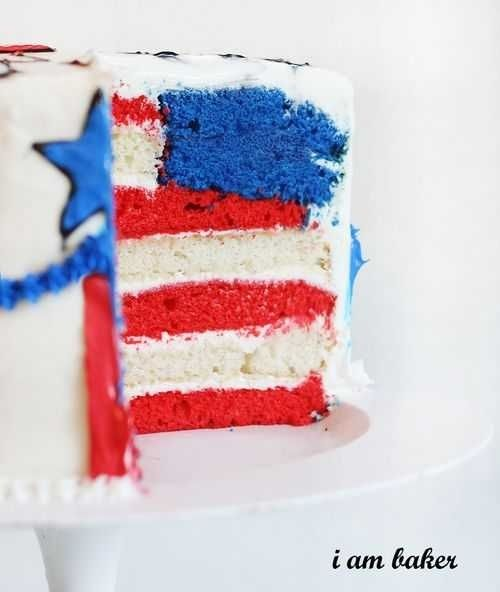 92 best patriotic cake decorating ideas images on for American flag cake decoration