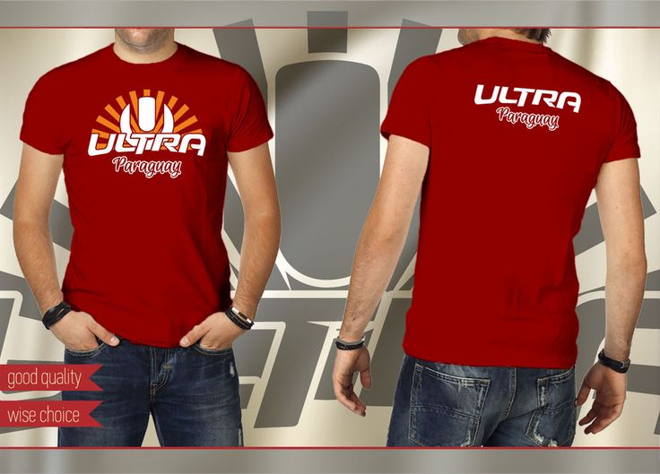 ULTRA PARAGUAY Music Festival Fans T-shirt COLOR: Tango Red Size: S - XXL #SOLS #PersonalizedTee